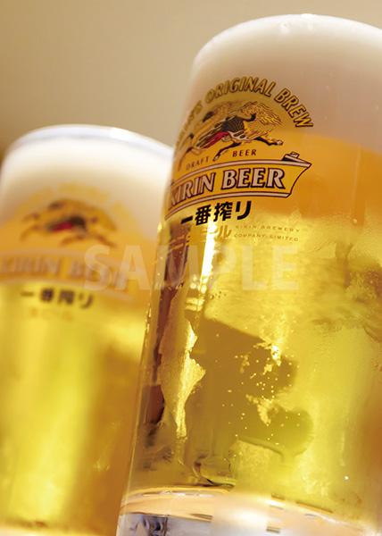 生ビール 中生 ジョッキ)のA4サイズ背景素材