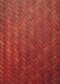 赤色に着色した木板が組み合うテクスチャーA4サイズ背景素材