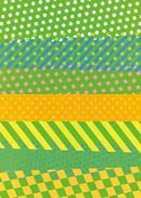 緑基調の派手でポップなA4サイズ背景素材