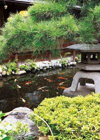 日本庭園のA4サイズ背景素材