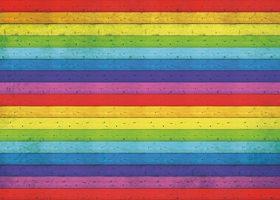 虹色の板の間・木材のA4(横長)サイズ背景素材