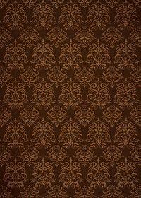 茶色のダマスク柄壁紙のA4サイズ背景素材