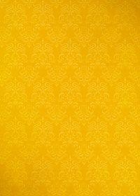 黄色のダマスク柄壁紙のA4サイズ背景素材