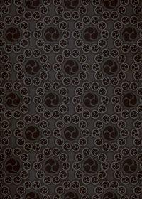 黒い巴紋が幾何学的に並ぶA4サイズ背景素材