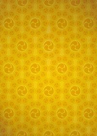 ゴールドの巴紋が幾何学的に並ぶA4サイズ背景素材