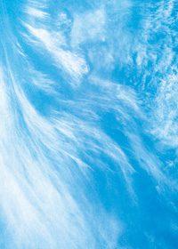 青い空と流れる雲のA4サイズ背景素材