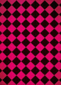 ピンクと黒色のハーリキンチェック柄のA4サイズ背景素材