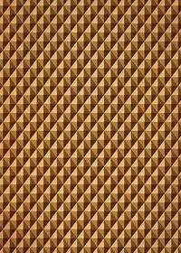 茶色の三角が並び立体的に見えるA4サイズ背景素材
