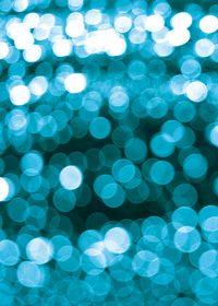 青くボヤケて光るA4サイズ背景素材データ