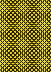 黒と黄色の七宝柄A4サイズ背景素材データ