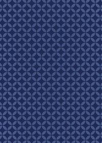 紺色の七宝柄A4サイズ背景素材データ