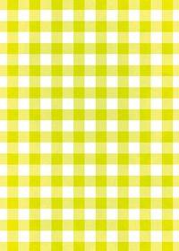 黄緑色のギンガムチェック柄A4サイズ背景素材