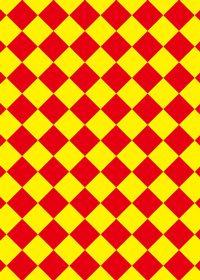 赤色と黄色のハーリキンチェック柄A4サイズ背景素材