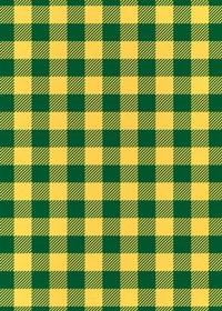 黄色と緑色のシェパードチェック柄A4サイズ背景素材
