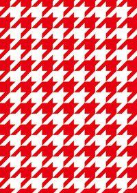赤白のハウンドトゥース柄A4サイズ背景素材