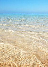 透き通る海のA4サイズ素材