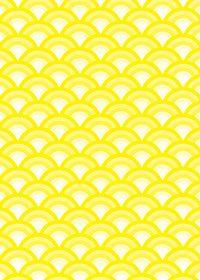 黄色の青海波柄A4サイズ背景素材