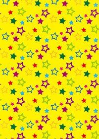 星のイラストが散らばるA4サイズ背景素材