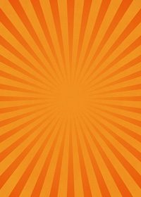 オレンジ色の集中線のA4サイズ背景素材