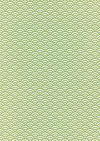 緑と白の青海波柄A4サイズ背景素材