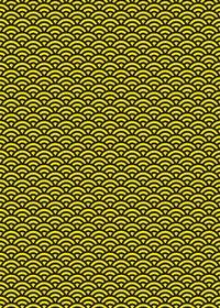 黒と黄色の青海波柄A4サイズ背景素材