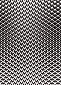 白黒の青海波柄A4サイズ背景素材