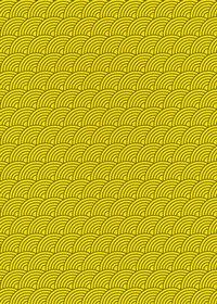 斜めに傾いた黄色の青海波柄A4サイズ背景素材