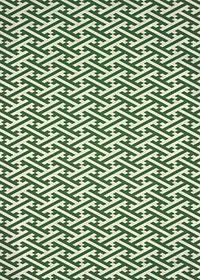 緑色の紗綾形・和柄のA4サイズ背景素材