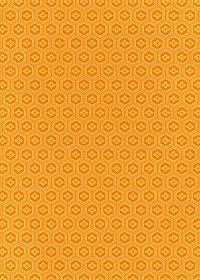 オレンジ色の亀甲柄A4サイズ背景素材