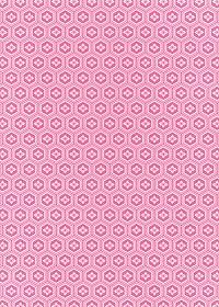 ピンク色の亀甲柄A4サイズ背景素材