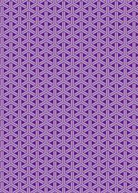紫色の組亀甲柄A4サイズ背景素材