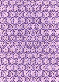紫色の巴柄A4サイズ背景素材