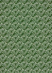 緑色の唐草模様のA4サイズ背景素材