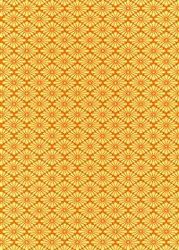 オレンジ色の菊菱柄A4サイズ背景素材