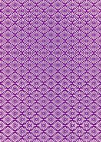紫色の菊菱柄A4サイズ背景素材