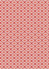 赤と白の菊菱柄A4サイズ背景素材