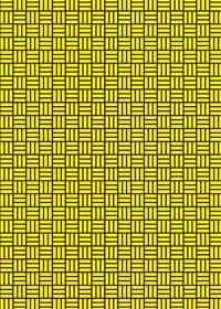 黒と黄色の算崩し模様・和柄のA4サイズ背景素材