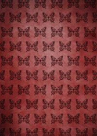 アゲハチョウのイラストが並ぶ赤く不気味なA4サイズ背景素材