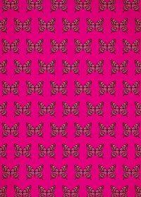 アゲハチョウのイラストが並ぶピンク色のA4サイズ背景素材