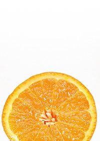 カットオレンジのA4サイズ背景素材