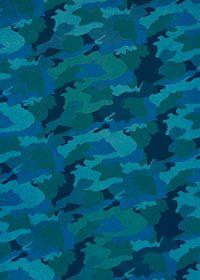 青色の迷彩柄のA4サイズ背景素材