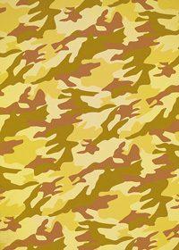 黄色の迷彩柄のA4サイズ背景素材