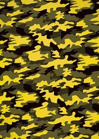 黄色の迷彩・カモフラージュ柄のA4サイズ背景素材