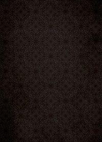 黒いアラベスク柄のA4サイズ背景素材