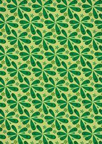 緑色のペイズリー柄のA4サイズ背景素材