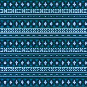 青色のエスニック柄のA4サイズ背景素材
