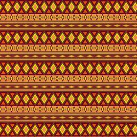 オレンジ色のエスニック柄のA4サイズ背景素材