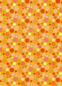 オレンジ色のマルチドット柄A4サイズ背景素材