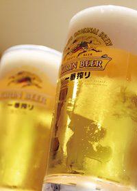 生ビール(中生 ジョッキ)のA4サイズ背景素材