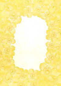黄色の花が周りに散らばるA4サイズ背景素材